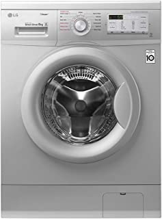 LG 8Kg 1400 RPM 8 Programs Front Load Steam Washing Machine with Inverter Direct Drive Motor, Silver - FH4G7TDY5