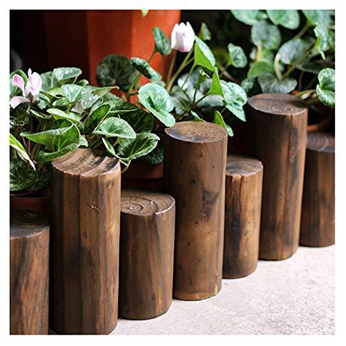 JIANFEI-Valla de jardín Valla De Madera Barrera De Jardin, Bricolaje Al Aire Libre Patio Jardín Corto, Doblando Balcón Decoración, Suelo Dividir, 9 Tamaños (Size : 90X50/60CM)