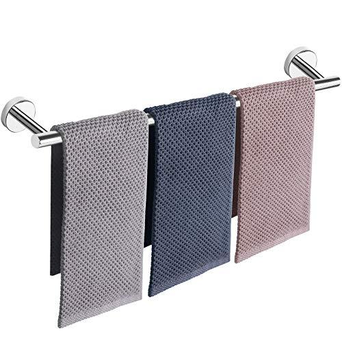 Toallero de baño, accesorios de baño grueso de acero inoxidable para baño, toallero de ducha montado en la pared (acabado cromado, 33 pulgadas)