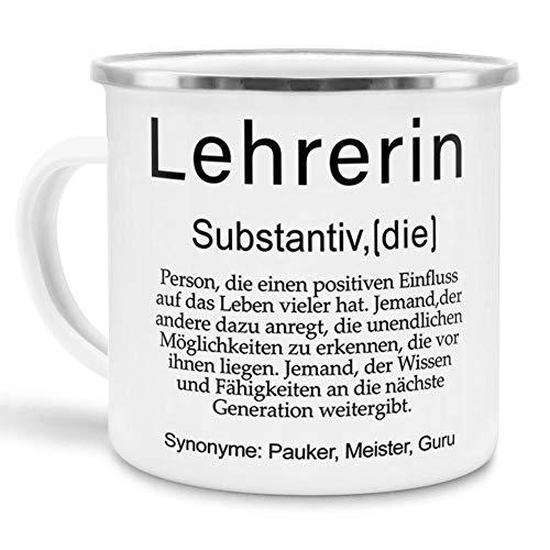 Tassendruck Tasse mit Definition Lehrerin - Wörterbuch/Geschenk-Idee/Dictionary/Beruf/Job/Arbeit/Emaille klein