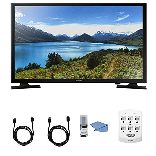 SAMSUNG UN32J4000-32-Inch LED HDTV J4000 Series + Hookup Kit - Includes TV, 6 Outlet Wall Tap Surge Protector, HDMI Cable 6