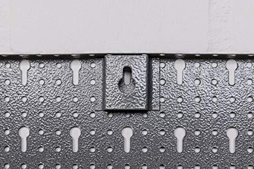 Lochblech aus Metall mit Eurolochung als Erweitung für Lochwand. 4 Stück im Vorteilspack mit Schrauben zur Wandanbringung, Maße ca. 40×60 pro Lochblech! - 3