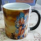 xingfuankang Dragon Ball Z Super Saiyan Goku Mug Tazze Che Cambiano Colore Sensibili al Calore Freddo Tazze da caffè E tè