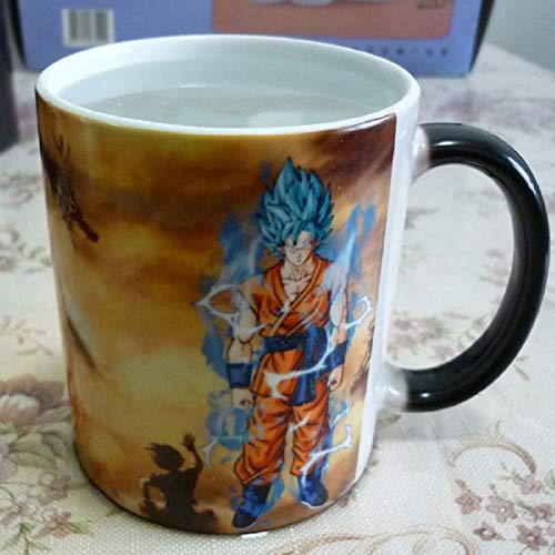 xingfuankang Taza Dragon Ball Z Super Saiyan Goku Tazas Que Cambian De Color Sensibles Al Calor Frío Taza De Té De Café