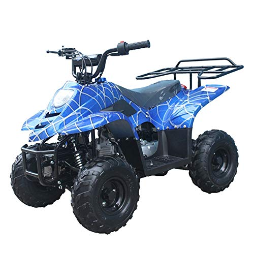 X-PRO 110cc ATV Quads Youth ATV Kids Quad ATVs 4 Wheeler (Spider Blue)