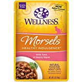 Wellness Healthy Indulgence Natural Grain Free Wet Cat Food, Morsels Tuna, 3-Ounce Pouch (Pack Of 24)