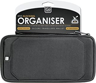 Go-Travel RFID Organiser, Black, 674