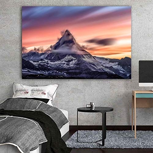 wangpdp Paysage Imprimer Montagne et Nuages Toile Peintures Décoration de la Maison Salon Cuadros Art Mural Posters et Gravures