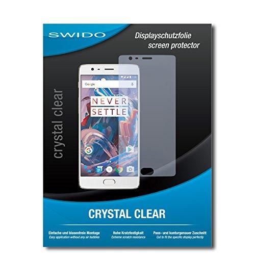 SWIDO Bildschirmschutz für OnePlus 3T [4 Stück] Kristall-Klar, Hoher Festigkeitgrad, Schutz vor Öl, Staub & Kratzer/Schutzfolie, Bildschirmschutzfolie, Panzerglas Folie
