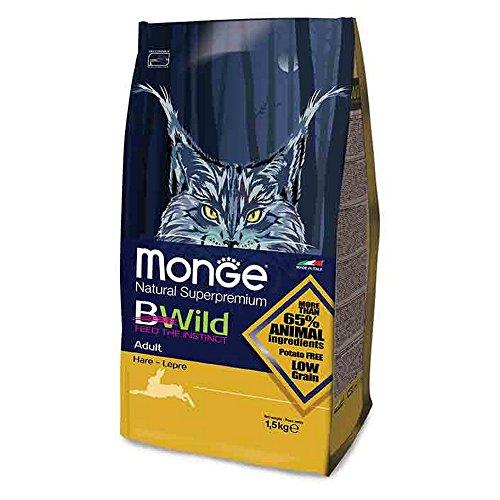 MONGE Bwild Chat adulte Hare KG. 1,5 nourriture sèche pour chats