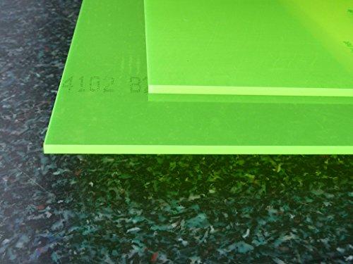 Platte Acrylglas GS, 500 x 500 x 3 mm, Fluoreszierend grün Zuschnitt alt-intech®