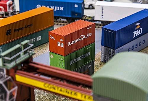 Faller FA 180822 - 20 Container Hamburg Süd, Zubehör für die Modelleisenbahn, Modellbau