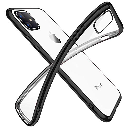 jaligel Cover Compatibile con iPhone 11 Custodia in TPU Morbida, Trasparente Ultra Sottile Antiurto Anti-Graffio Protettiva Case Cover - Nero