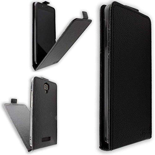 caseroxx Flip Cover für Archos 50D Oxygen, Tasche (Flip Cover in schwarz)