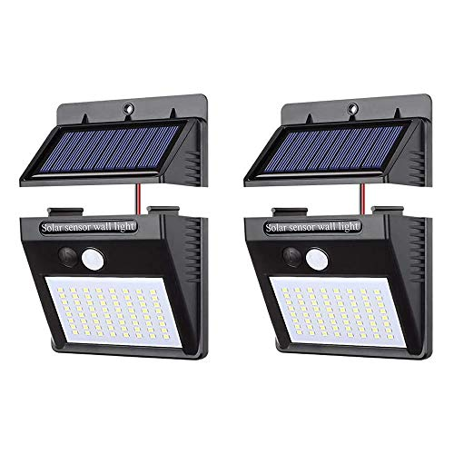 BRAVE センサーライト 2個セット 分離型 64LED 屋外 LED ソーラーライト パネル分離 太陽光発電 防犯 防水 玄関 庭 屋外 MV-2TERA