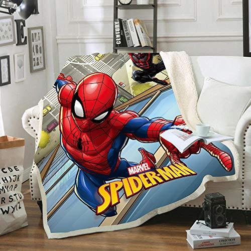 SSLLC Spiderman Couverture Polaire - Plaid Polaire Enfant,Couvertures antistatiques d'hiver Chaudes et légères pour canapé-lit Canapé Salon Chambre (A05,150X200CM)