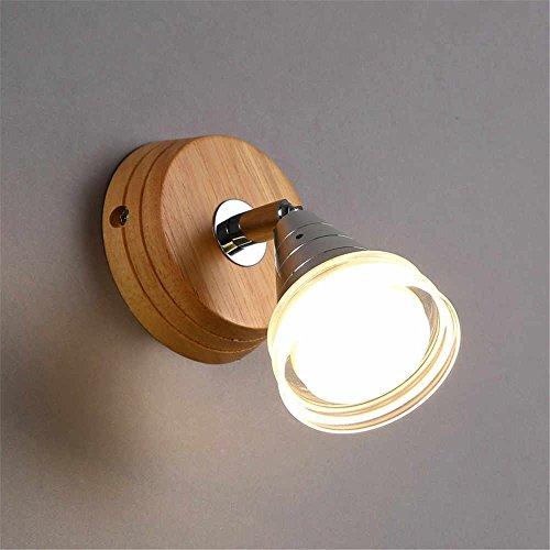 WEXLX Appliques en bois élégant Wall Lamp pour diamètre12 Cm allée Balcon