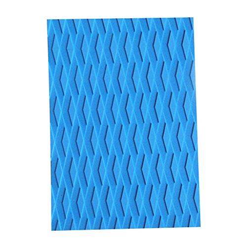 Gazechimp Almohadilla de Tracción de Cola Deck Grip para Tabla de Surf Kiteboard Color Azul / Gris - Azul