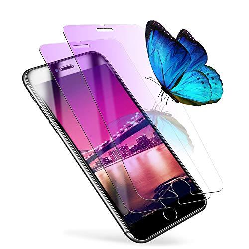 iphonese2ガラスフィルム ブルーライトカット iPhone SE2 フィルム 液晶保護 iphone se 第2世代 保護フィルム iphone SE 2020 強化ガラス フィルム 【発売後開発版/2枚セット/旭硝子/貼り付け簡単/気泡ゼロ/割れない】