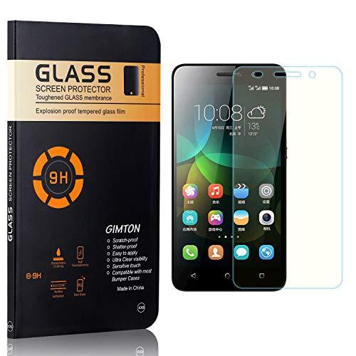 GIMTON Displayschutzfolie für Huawei Honor 4C, 9H Härte, Blasenfrei, Anti Öl, Ultra Dünn Kratzfest Schutzfolie aus Gehärtetem Glas für Huawei Honor 4C, 3 Stück