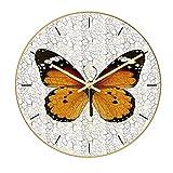 Orologio da parete stile nordico colorato creativo farfalla nuovo orologio da parete al quarzo moderno fantastico orologio da parete in stile arte astratta per la decorazione domestica