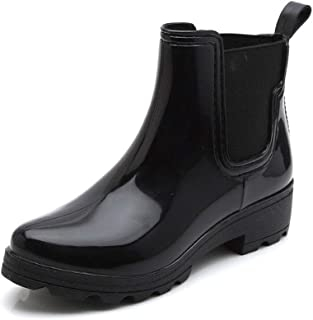 MEIGUIshop Rain Boots - Non-Slip Waterproof rain Boots U-Shaped Elastic Rubber Boots