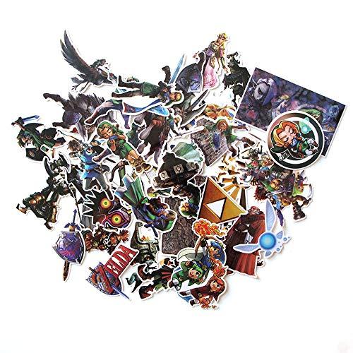 BAIMENG Hand Tour Zelda Sticker Personalidad Creativa Caja de Viaje Monopatín Refrigerador Notebook Notebook Sticker 43 Uds