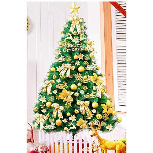 LIUSHI Decoración de árbol de Navidad Artificial pre-iluminada Soporte Plegable Pino Canadiense Pre-Decorado Pre-Iluminado con Soporte de Metal sólido Decoración navideña-240cm (94 Pulgadas) A