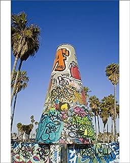 robertharding 10x8 Print of Art Walls, Legal Graffiti, on Venice Beach, Los Angeles, California, United (5927360)
