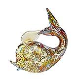Original Murano Glass OMG Figura de ballena en oro Murrine Millefiori - Animales - Original cristal de Murano