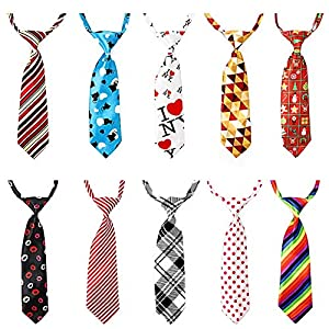 Segarty Dog Neckties, 10 Pack Pet Neck Ties for Medium Large Dogs, Adjustable Bow Ties Collar Bulk Bowties Grooming Accessories for Girl Boy Dog Valentines Holiday Festival Birthday Wedding Costumes