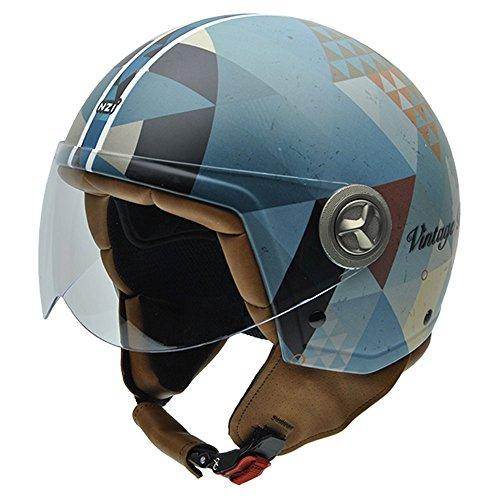 NZI Zeta Graphics Motorradhelm, Bunt Dreiecke, M