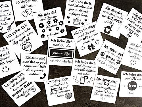 100 Gründe warum ich dich liebe als Valentinstagsgeschenkidee