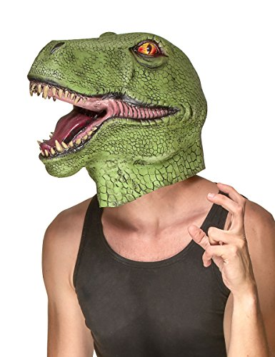 Vegaoo - Dinosaurier Maske für Erwachsene - Einheitsgröße