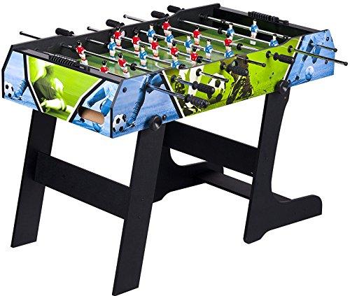 Leomark Baby Foot - Pliable Table de babyfoot Jeu de Football, Baby Foot Table en Bois Jeu de Football, Table pour Enfants, Adultes, Dim: 121,5 x 67 x 82 (hauteur) cm