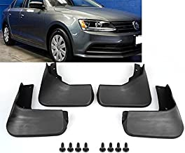 Set Black ABS Mud Flaps Splash Guards Fender Front + Rear For VW Volkswagen Jetta MK6 2015 2016 2017