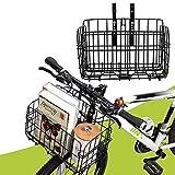 【大容量】カバンや買い物やペットがかごに入れ、通勤、通学、お買い物に満足できます。持ち物から解放し、いつでもお気軽に自転車を乗ります。ほとんどの折り畳み自転車、マウンテンバイク、クロスバイク、ミニベロなどに適しています。 【折り畳み式】折りたたみのできるカゴなので、より小さいサイズにすることができ、使わない時には収納しやすい。自転車を折りたたむ際にはカゴは取り外して折りたためば自転車とともにコンパクトに収納可能です。自転車のうしろカゴとまえかごにも適用です! 【良い素材】バスケットは丈夫な鉄製で...
