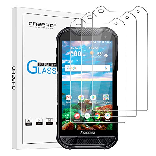 (3 Pack) Orzero Tempered Glass Screen Protector Compatible for Duraforce Pro 2 E6900, 2.5D Arc Edges 9 Hardness HD Anti-Scratch Bubble-Free (Lifetime Replacement)