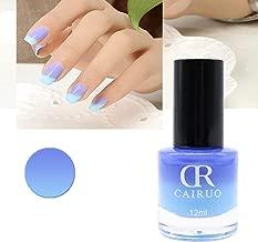 utda.sh-fs women's nails Temperature Change Nail Polish Set Chameleon Nail Glimmer Shell Glitter Lacquer Varnish Art (R)
