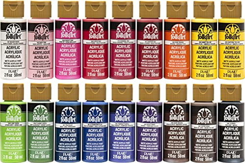FolkArt Acrylic Paint Set (2-Ounce), PROMOFAI Colors I (18 Colors)