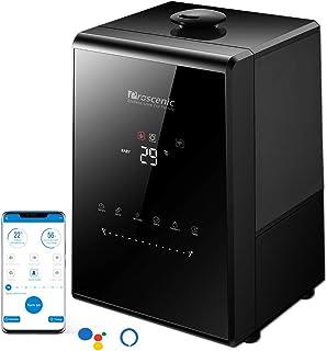 proscenic 808C Humidificador 5.3L ultrasónico e Inteligente Compatible con Aplicación,Alexa y Google Assistant, Niveles adjustables, Modo de bebé, Auto-Apagado y Panel táctil, luz noctura