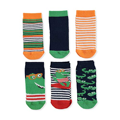 ebebek HelloBaby - 6 pares de calcetines de algodón coloridos diseñados para niños y niñas recién nacidas
