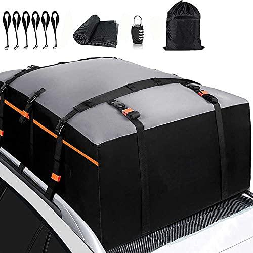 AXB Box da Tetto, Active Porta Bagagli Tetto Auto Resistente alle Intemperie Borsone per Tettuccio Auto Box da Tetto per Tutti i Veicoli con/Senza Rack