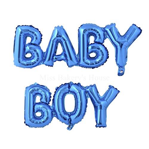 Miss Bakery's House® Ballon - Folie - Baby Boy - Blau - Deko Baby-Party