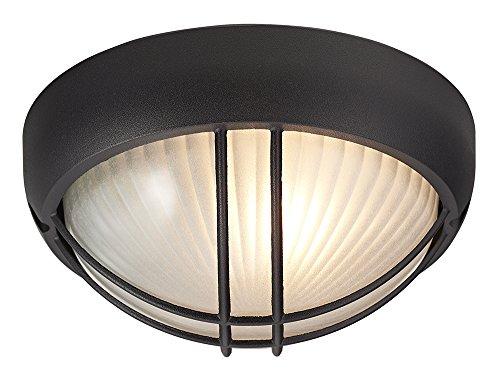 Mat zwart gegoten aluminium outdoor circulaire scheidingswand veranda of wandlamp