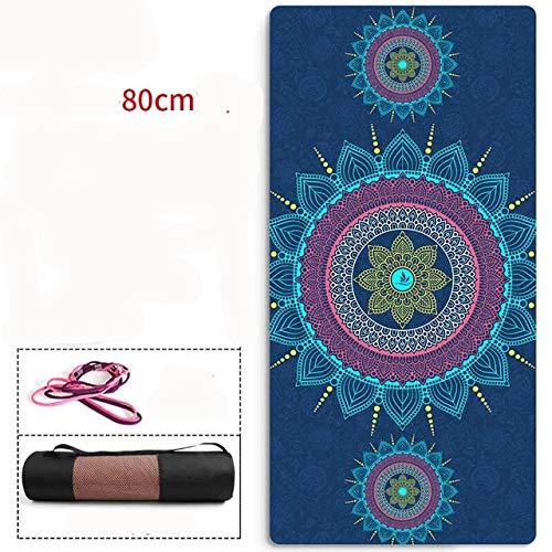 Estera de Yoga de Gamuza TPE Natural ensanchada cómoda Antideslizante Fitness Mat-4
