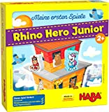 HABA 305912 - Meine ersten Spiele - Rhino Hero Junior, Spiel ab 2 Jahren, made in Germany