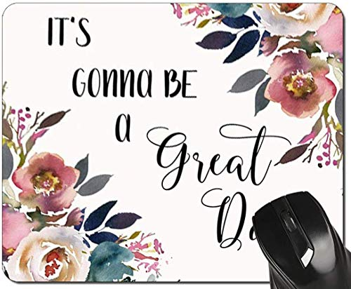 Zitat Mauspad Inspirierende Zitate Blumenlehrer Mousepad Schreibtischzubehör für Frauen Bürogeschenke