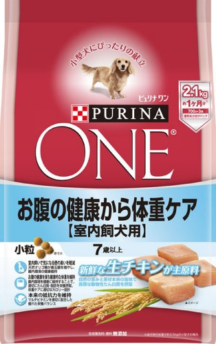 スマートマットライト ピュリナ ワン シニア犬用(7歳以上) 室内飼犬用 お腹の健康から体重ケア 小粒 チキン 2.1kg(700g×3袋) [ドッグフード]