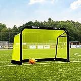 FORZA Aluminum Pod Folding Soccer Goal | Premium Target Soccer Goal | Soccer Training Equipment | Soccer Goals & Soccer Net | Pro Practice Goals | Kids Soccer Goals (5ft x 3ft, Without Carry Bag)
